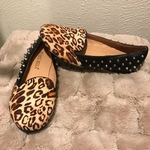 Like New RCK Bella loafers- leopard and spikes 7.5